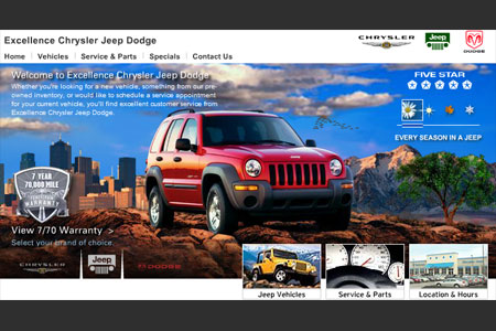 Jeep: Dealer Website