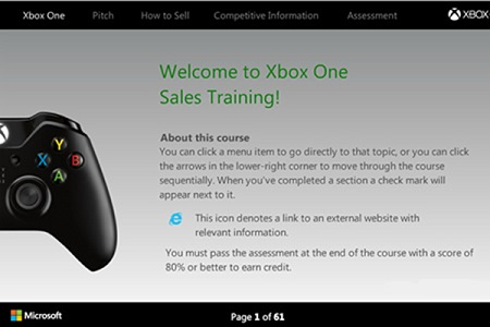 Microsoft: Xbox One Sales Training
